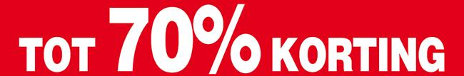 Tot wel 70 procent korting
